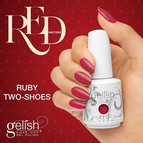Gelish Ruby Two Shoes de la collection Red Matters -  Holiday 2015 (15 ml)