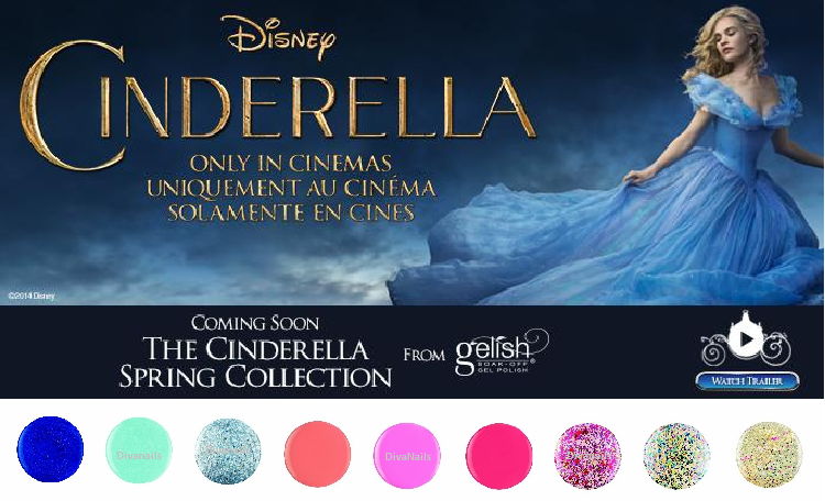 Gelish cinderella baniere tile diva nails b