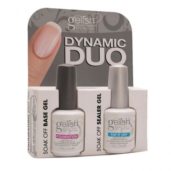 Gelish Dynamic Duo - Top It Of + Foundation base Gel