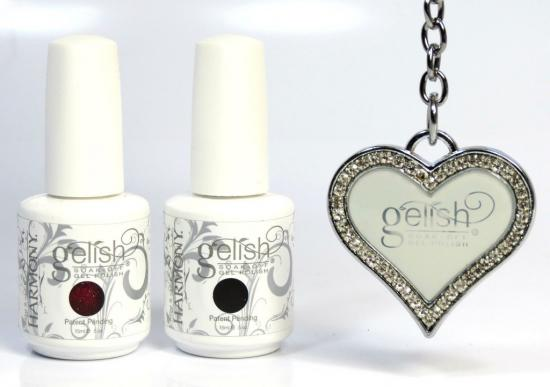 Gelish winter red duo dancer with diva nails key 1