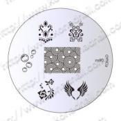 Konad, plaque de motif pour stamping nail art M90