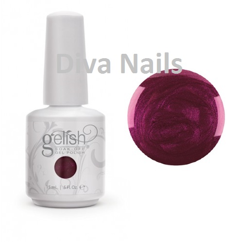 01846 gelish color fall berry buttoned up diva nails