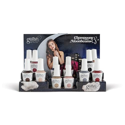 Gelish display collection complète Champagne & Moonbeans (12x15 ml)