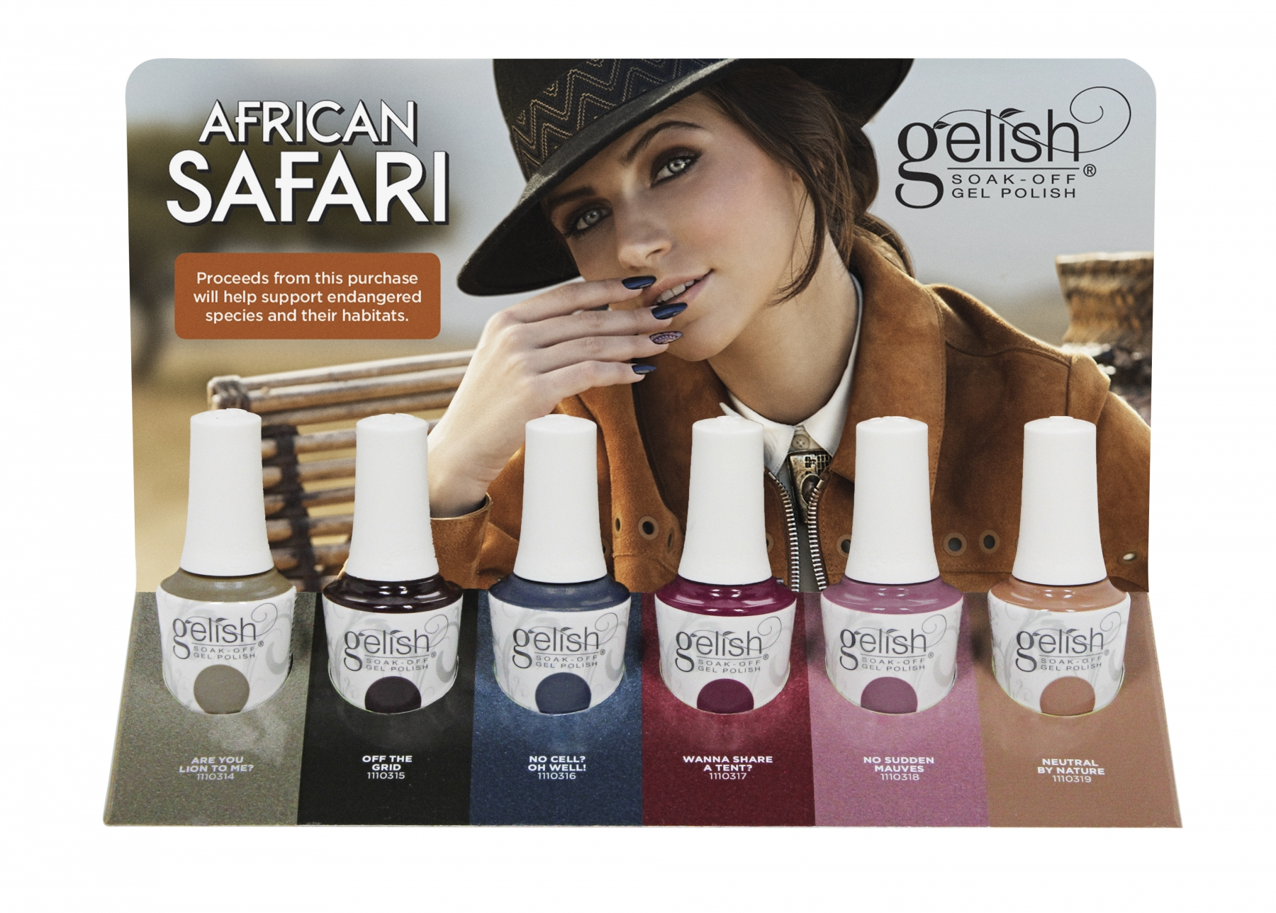 African safari 2018 collection complete 6 piece set