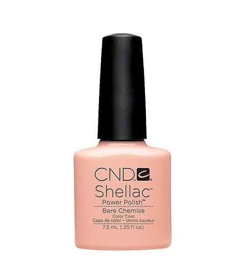 Cnd shellac bare chemise diva nails