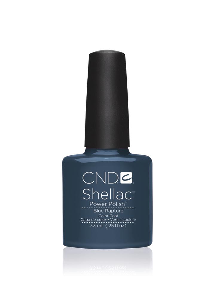 Cnd shellac blue rapture diva nails