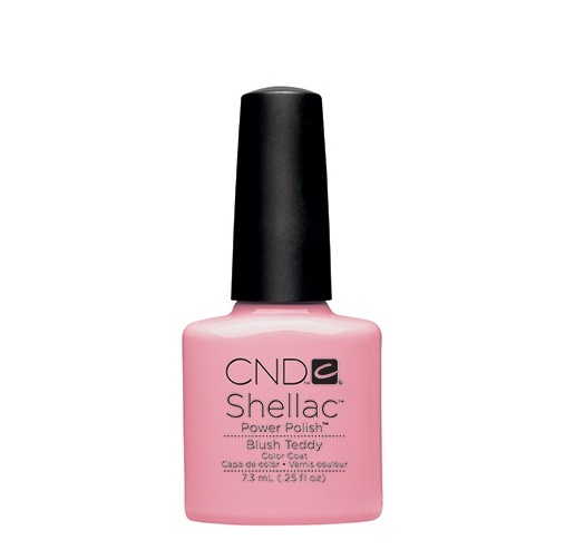 Cnd shellac blush teddy diva nails