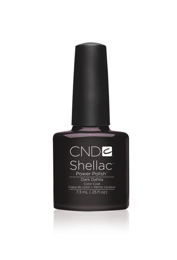 Cnd shellac dark dahlia diva nails