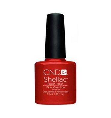 Cnd shellac fine vermilion diva nails
