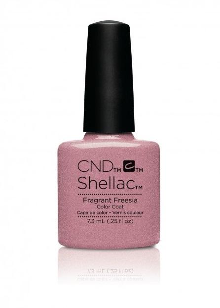 Cnd shellac fragrant freesia diva nails