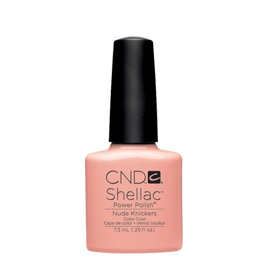 Cnd shellac nude knickers diva nails