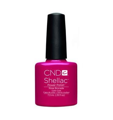 Cnd shellac rose brocade diva nails