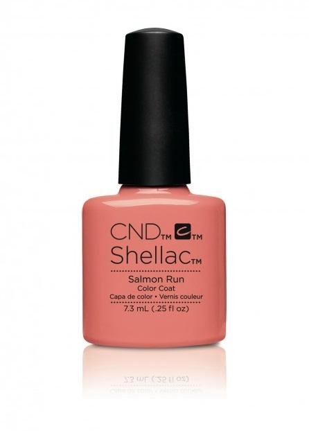 Cnd shellac salmon run diva nails