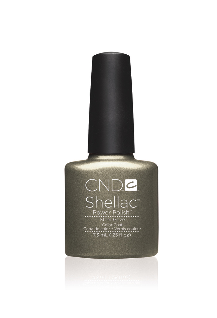 Cnd shellac steel gaze diva nails