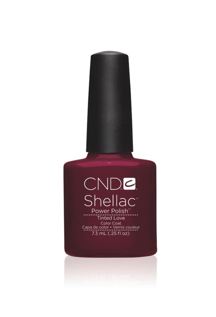 Cnd shellac tinted love diva nails