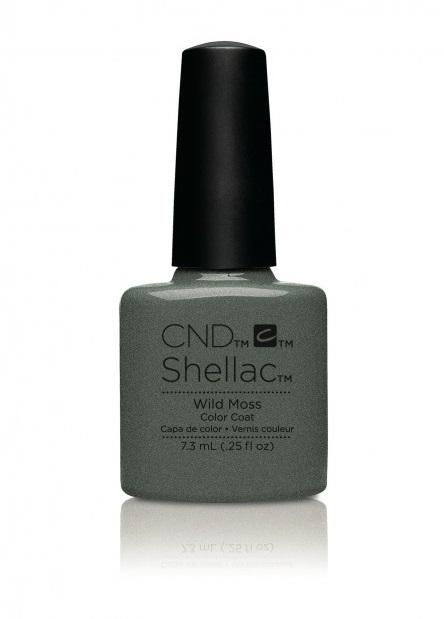 Cnd shellac wild moss diva nails