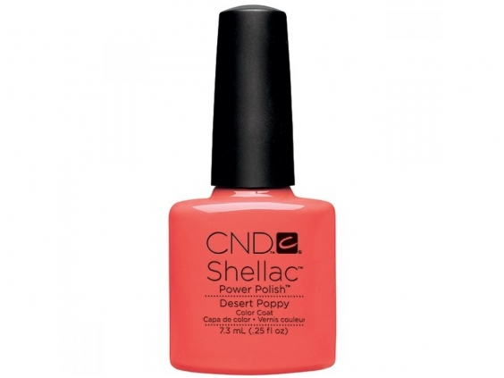 Desert poppy cnd shellac open road collection diva nails