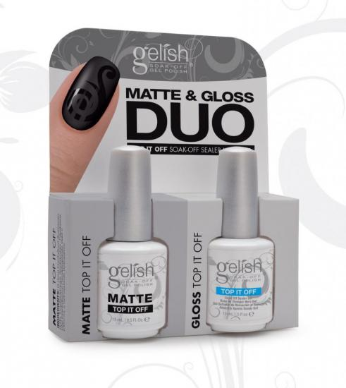 Gelish Duo Top it Off Classic + Matte Top it Off