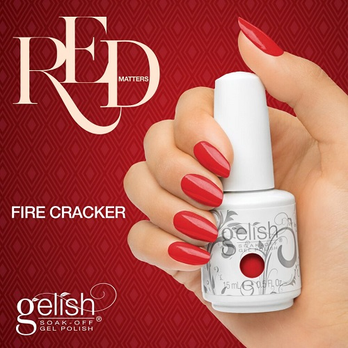 Gelish 1078 fire cracker diva nails t