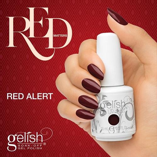 Gelish 1083 red alert diva nails t
