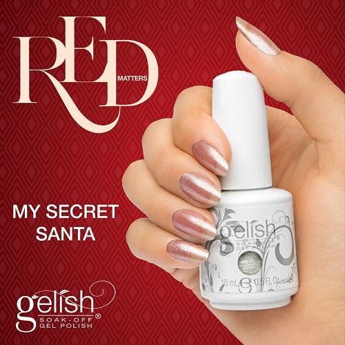 Gelish 1084 my secret santa diva nails t