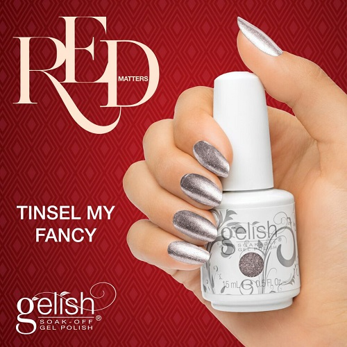 Gelish 1085 tinsel my fancy diva nails t