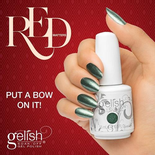 Gelish Put a Bow on It ! de la collection Red Matters -  Holiday 2015 (15 ml)