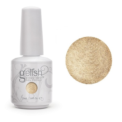 Gelish after hours 1100002 give me gold diva nails