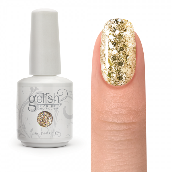 Gelish all that glitters is gold diva nails