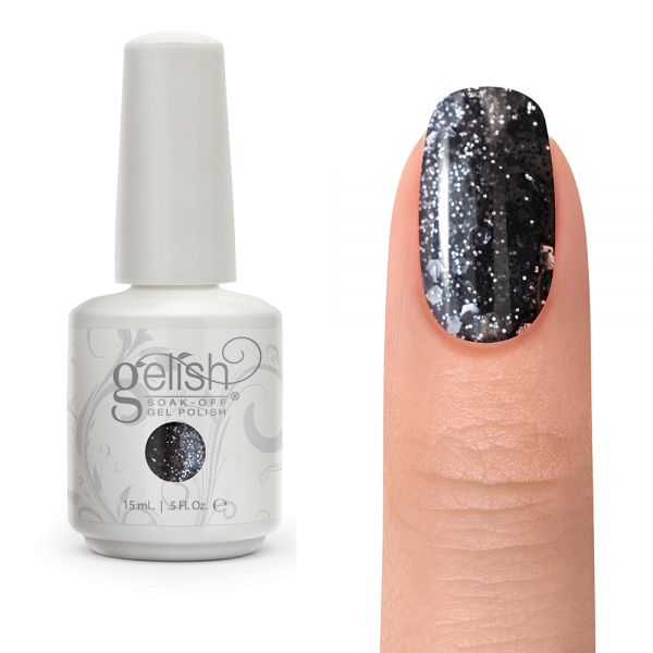 Gelish concrete couture diva nails