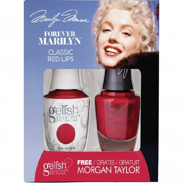 Gelish forever marilyn 1410358 classic red lips duo