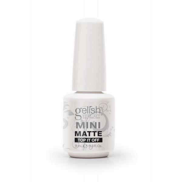 Gelish matte top it off mini diva nails