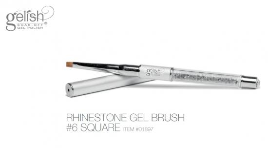 Gelish Rinestone #6 square Gel Brush