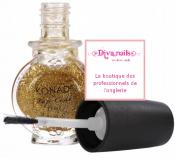 Konad Top Coat glitter Gold (11ml)