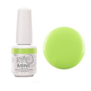 Lime all the time gelish mini diva nails