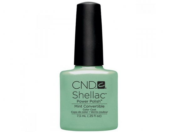 Mint convertible cnd shellac open road collection diva nails
