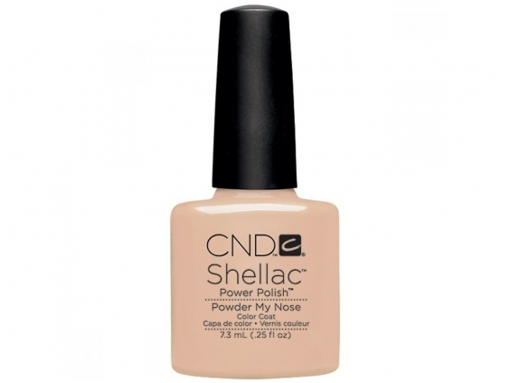 Powder my nose cnd shellac open road collection diva nails