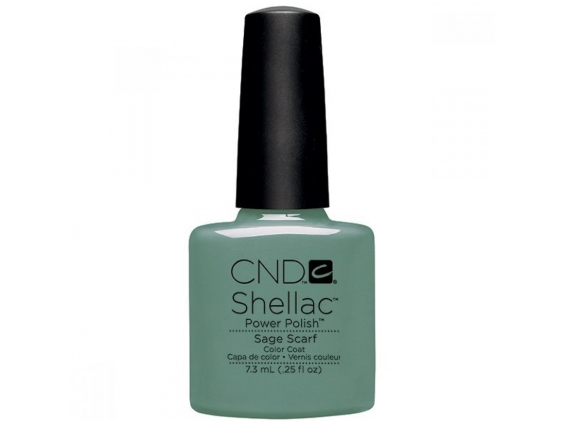 Sage scarf cnd shellac open road collection diva nails