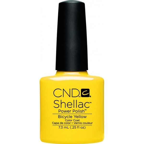 Shellac bicycle yellow cnd shellac store