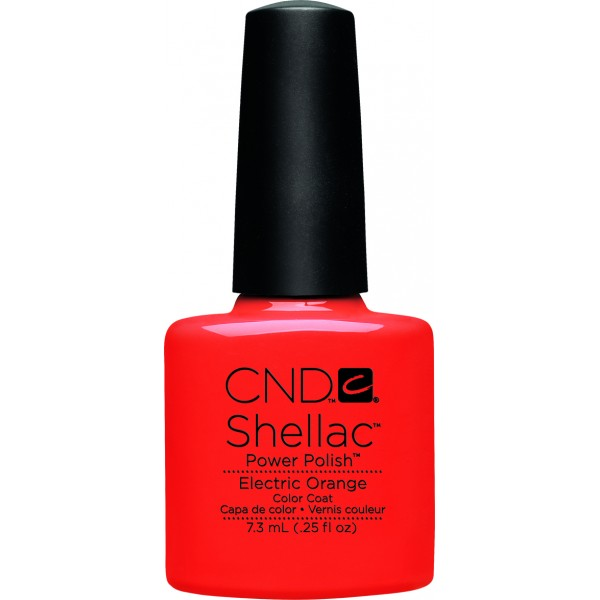 Shellac electric orange cnd shellac store